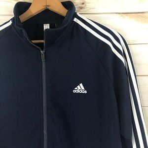 Adidas Men's Navy White Zip Track Jacket, XL
